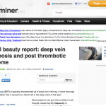 Natural beauty report: Deep vein thrombosis and post thrombotic syndrome